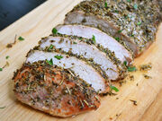 Herb Rubbed Pork Loin close