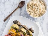 Vegetarian Satays with Asian Pesto