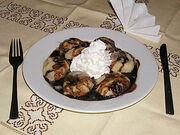 Potato dumplings with plums (Knedle sa sljivama)
