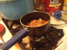 Fried Celery with Oni