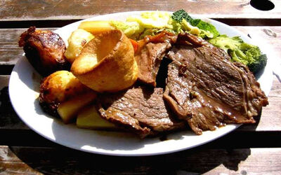 Roat beef and Yorkshire pudding