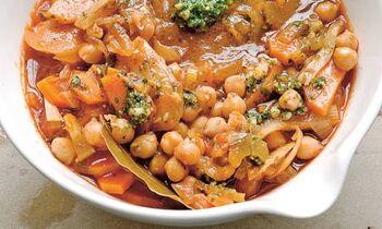 Chickpea tomato bread soup