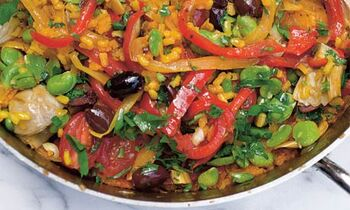 Multi-vegetable paella