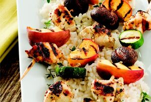 Grilled-Chicken-and-Peach-Kabobs