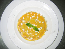 White Bean Ravioli with Pumpkin Sauce image1