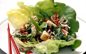 Spicy herring salad