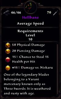 Hellbane Inventory