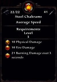 Fire Steel Chakrams Inventory
