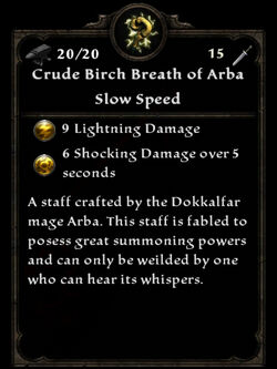Crude birch breath of arba