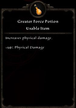 Greater Force Potion
