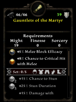 Gauntlets of the martyr