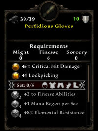Perfidious gloves ib
