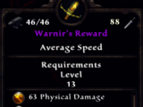 Warnir's Reward