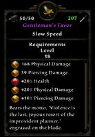Gentlemans favor