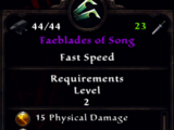Faeblades of Song