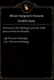 Minor Serpent's Venom