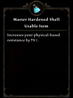 Potion ma hardened shell