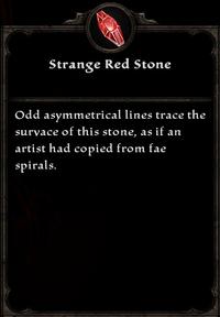 Strange Red Stone