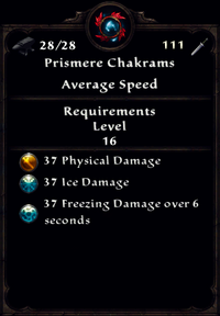 Frost Prismere Chakrams Inventory