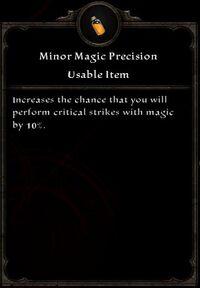 Minor Magic Precision