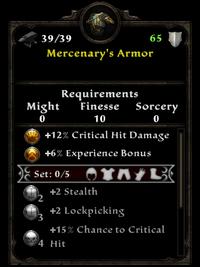 Mercenarys armor