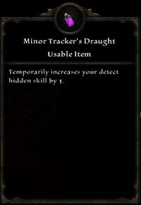 Minor Tracker's Draught