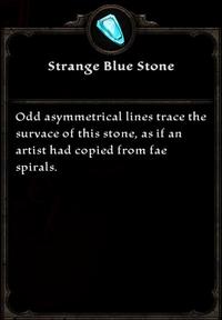 Strange Blue Stone