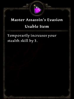 Potion ma assassins evasion