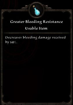 Greater Bleeding Resistance