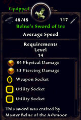 Belne's Sword of Ire