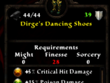 Dirge's Dancing Shoes