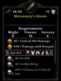 Mercenary gloves ib