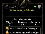 Mercenary's Gloves