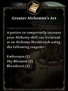 Recipe g alchemists art