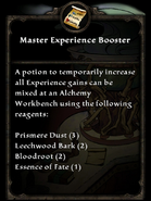Master experience booster recipe