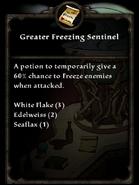 Greater freezing sentinel