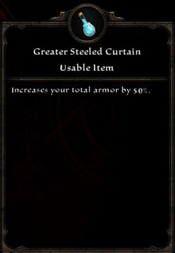 Greater Steeled Curtain