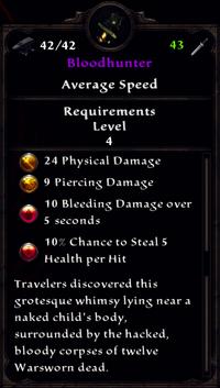 Bloodhunter Inventory