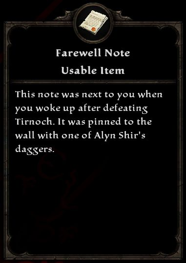 Farewell note amalur wiki fandom powered by wikia farewell note farewellnote altavistaventures Choice Image