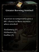 Recipe g burning sentinel
