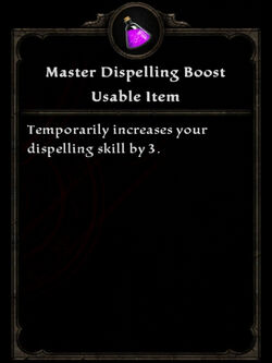 Potion ma dispelling boost