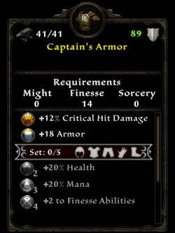 Captain's Armor
