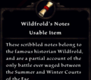 Wildfrold's Notes