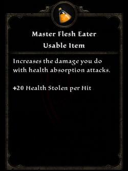 Potion ma flesh eater