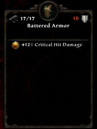 Battered armor