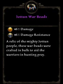 Jottun War Beads