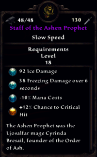Staff of the Ashen Prophet Inventory
