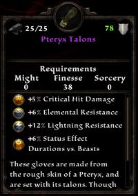 Pteryxtalons