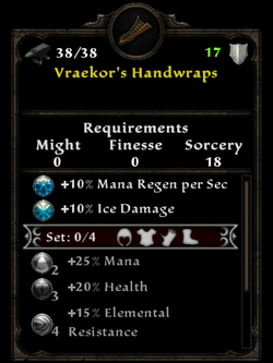 Vraekor's handwraps