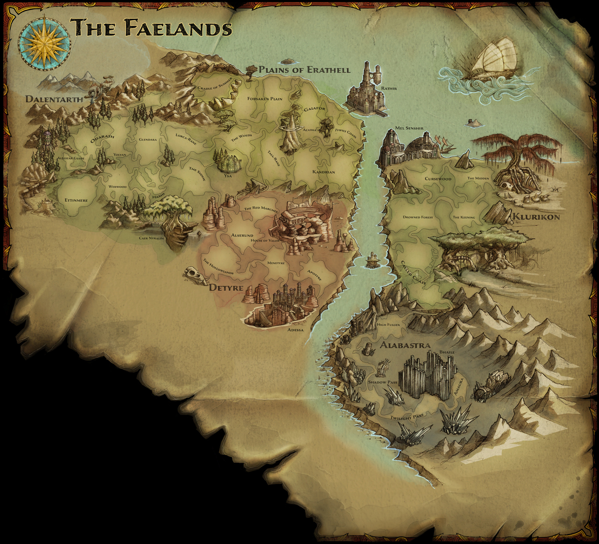The Faelands | Amalur Wiki | FANDOM powered by Wikia on the gardens of ysa amalur map, league of legends detailed map, silent hill detailed map, reckoning map, world map, resident evil detailed map, borderlands detailed map, kingdom of amalur level map, amalur sun camp map, runescape detailed map, lord of the rings detailed map,